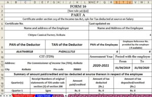 Income Tax Form 16 Part B