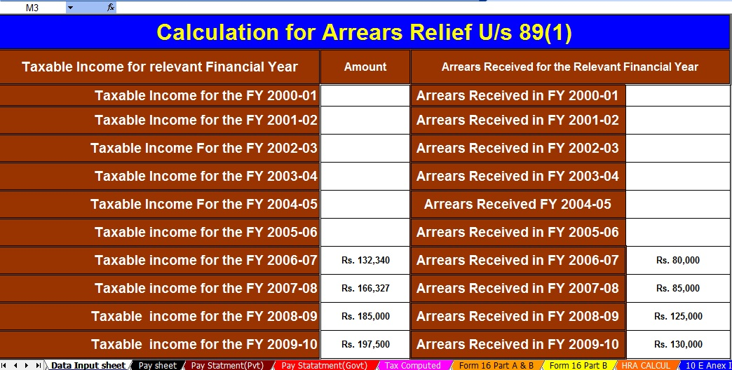 What is the Interest Income is Exempt for Senior Citizens and Individuals in Income Tax? With Automated Income Tax Salary Arrears Relief Calculator U/s 89(1) with Form 10E from the F.Y.2000-01 to F.Y.2020-21 (Updated Version)